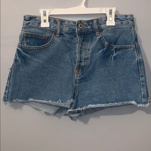 Forever 21 denim shorts size 28 high waisted